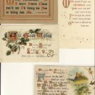 Lot of 4 Gorgeous Christmas Words Postcards VP-4337