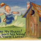 Funny OUTHOUSE Comic Bathroom Humor Postcard VP-5651