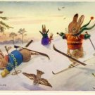 Racey Helps Fun on Skis Medici Postcard VP-4585