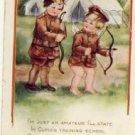 Cupid's in Training Vintage Valentine Postcard VP-5754