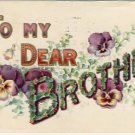 To My Dear Brother Vintage Greeting Postcard VP-2365