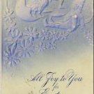 Gnomes & Chick in Egg Vintage EAster Postcard VP-5054