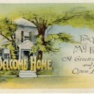 Welcome Home Vintage Greeting Postcard VP-6087