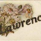 Antique Name Lawrence Vintage Greeting Postcard VP-4312
