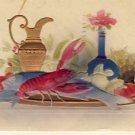 Lobster Dinner Vintage Embossed Postcard VP-3261