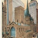 Trinity Church & Skyscrapers Vintage NYC Postcard VP988