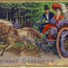 Victorian Couple in Carraige Postcard VP-6916