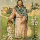 Jesus and Child Vintage EASTER Postcard VP-6914