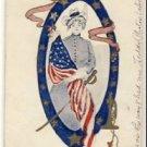 Patriotic Lady in Military Uniform Postcard VP-6911