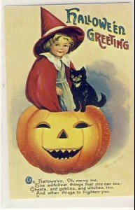 Clapsaddle 6080 Reproduction Halloween Postcard VP-6290