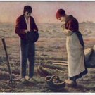 Couple Give Thanks for Crops Vintage Postcard VP-290