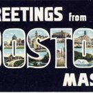 Large Letter Greetings From Boston MA. Postcard VP-933
