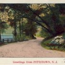 Greetings from PITTSTOWN, NJ Vintage Postcard VP-5272