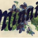Antique Name Card MINNIE Vintage Postcard VP-4178