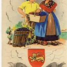 Adorable FRENCH Children Vintage 3D Postcard VP-256
