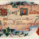 To My Darling Vintage Greeting Postcard - IVY-VP 263