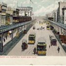 The Bowery & Elevated Road New York Postcard VP-6462
