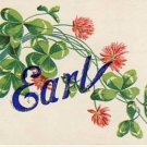 Antique Name EARL Vintage Greeting Postcard VP-4242