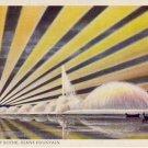 Chicago Int'l Expo Giant Fountain Night Scene PC VP-595