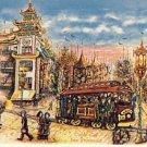 Very Colorful San Francisco Cable Car Postcard VP-596