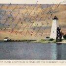 Ship Island Lighthouse Mississippi Postcard VP-6709