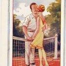 Tennis Couple Vintage Risque Comic Postcard VP-2568