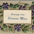 Greetings From Cohasset, Minn. Vintage Postcard VP-3663
