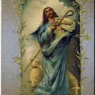 JESUS WITH LAMBS Vintage Relgious Postcard VP-5891