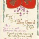Nice Dan Cupid Vintage Valentine Postcard Flower VP-235