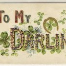 To My Darling Vintage Postcard w/Horseshoe VP-3902