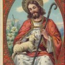 Jesus with Lamb Vintage Easter Postcard VP-6594
