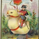 Prince rides Giant Chick Easter Postcard VP-6590