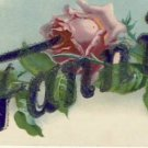 Antique Name FANNIE Vintage Greeting Postcard VP-6001