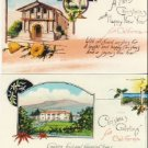 2 CHRISTMAS Greetings from CALIFORNIA Postcards VP-5312