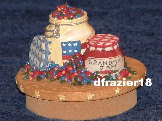 GRANDMA'S JELLY JAM PRESERVES Jar Candle Topper