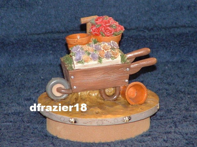 GARDEN WHEELBARROW Jar Candle Topper Wheel Barrow