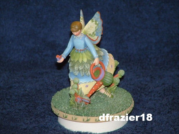 BOTANICAL ANGEL JUDY Jar Candle Topper Debbie Mumm Butterfly