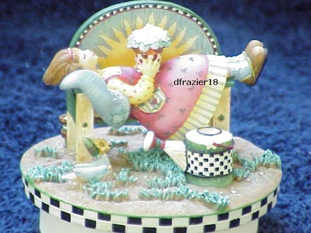 SUNNY DAY ANGEL Jar Candle Topper Debbie Mumm