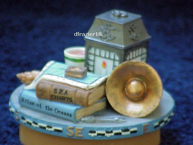 NAUTICAL Jar Candle Topper Boating Sailing Theme Decoration Decor