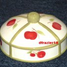 APPLE Jar Candle Topper Ceramic Dome Apples