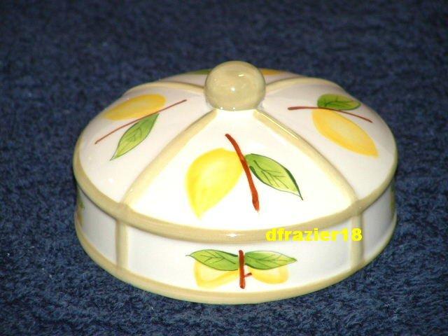 LEMON Jar Candle Topper Ceramic Dome Lemons