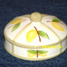 LEMON Jar Candle Topper Ceramic Dome Lemons