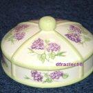 LILAC Jar Candle Topper Ceramic Dome Lilacs