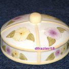 PANSY Jar Candle Topper Ceramic Dome Pansies