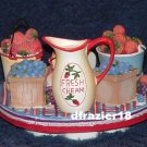 Stay On Top Jar Candle Topper Capper Old Virginia BERRY BASKET S'TOPPER