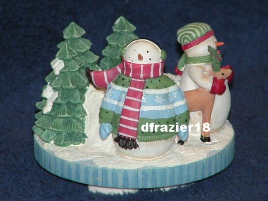 Stay On Top Candle Topper Capper Debbie Mumm Christmas Snowman WINTER WONDERS FAMILY