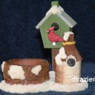 Tealight Tea Light Candle Holder Christmas Bird House WINTER BIRDHOUSE