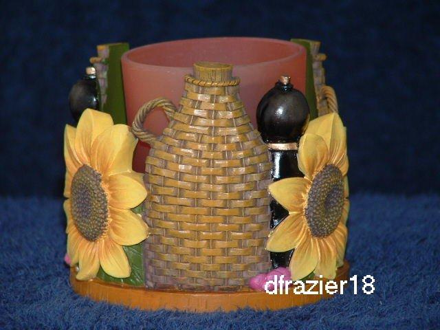 Votive Candle Holder Cuddler Sunflowers TUSCAN