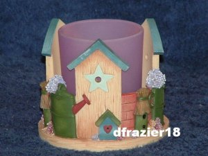 Votive Candle Holder Cuddler Bird House COUNTRY BIRDHOUSE