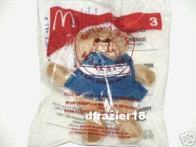 McDonalds McDonald's Happy Meal Toy Build A Bear Workshop BABW 2006 #3 Read Teddy CHEERLEADER